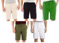 St Johns Bay Mens Shorts Legacy Flat Front Cotton Sizes 36 38 40 42 44