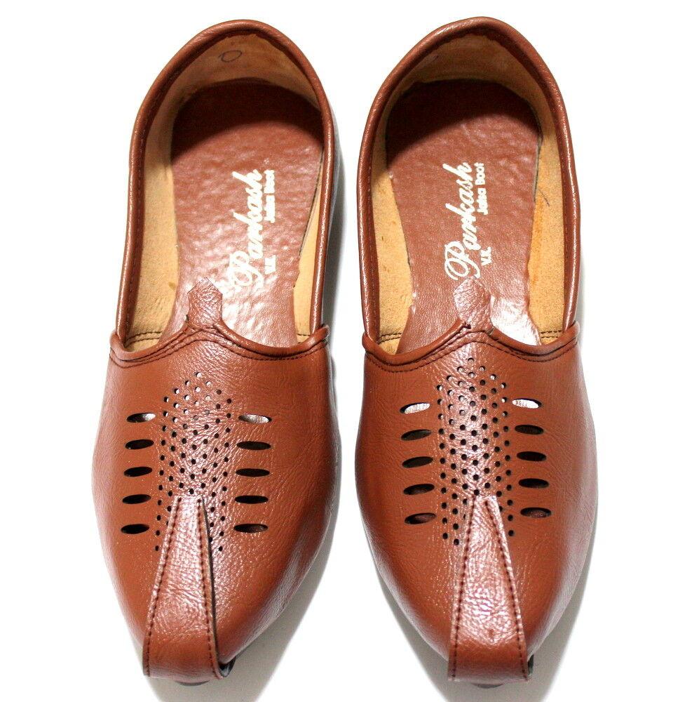 Men Pure Leather Mojari Khussa Handmade shoes Indian Punjabi US Style Jutti