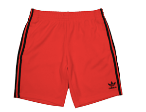 NEW MEN'S ADIDAS ORIGINALS TREFOIL SUPERSTAR SHORTS SIZE LARGE   BK0007 RED