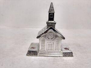 Wm-a-Rogers-Silverplate-Vela-Soporte-Iglesia-Luces-Decoracion-de-Navidad-ch170