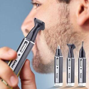 4 en1 Rechargeable hommes électrique nez oreille cheveux tondeuse barbe sourcils
