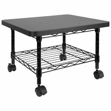 Mount It Under Desk Printer Stand With Wheels Black