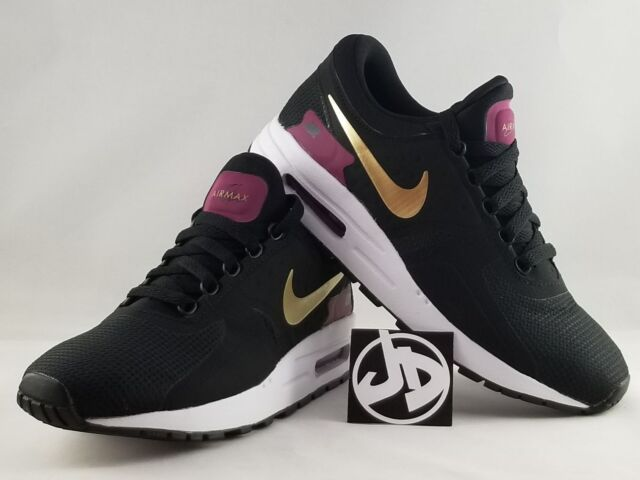 669ef5c803795 NIKE AIR MAX ZERO ESSENTIAL BLACK RUNNING SHOES ( 881229 007 ) Size 7Y = W