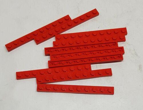 Lego 10 x Platte 1x10 rot 4477 Basic