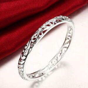 Stunning-925-Sterling-Silver-Filled-7MM-Lovely-Hollow-Filigree-Bracelet-Bangle