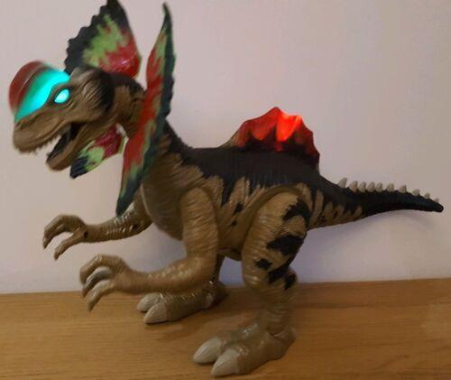 X Dinosauro dilophosauri COMPLETO Large Body Action Passeggio Suoni Bambini Bambine Giocattoli