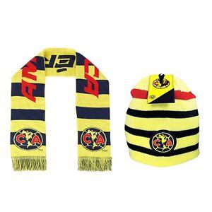 dff6e54f6c3 Club America Scarf + Beanie Soccer Mexico Cap hat FMF National Team ...