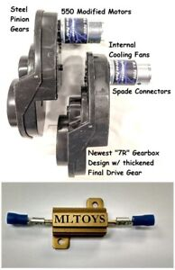 BRM-PAIR-of-Power-Wheels-Gearboxes-amp-Motors-for-Dune-Racers-SPEED-TUNED