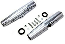 """CHROME 39MM LONG FORK SHROUDS COVERS 14"""" FOR HARLEY SPORTSTER XL 1986-03 1-PAIR"""