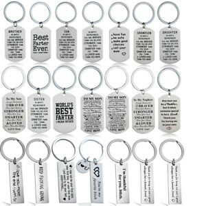 Key Chain Gifts Dad Mom Sister Teacher Keyring Best Friends Birthday Mothers Day