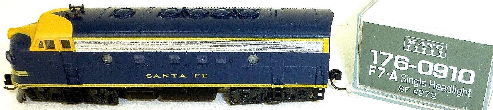 Kato 176-0910 F7A Santa Fe Sf 272 Diesel Locomotive Single Headlight Boxed N