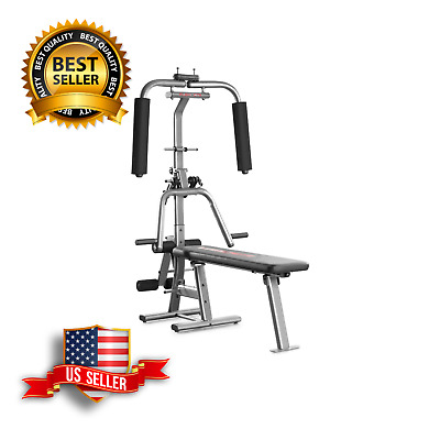 home gym  weight bench with bench press  butterfly lat