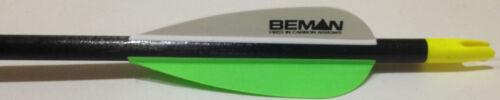 """6 per Choose Color Beman ICS Hunter Junior-C2 Carbon 28/"""" Arrow Shafts 3/"""" Vanes"""