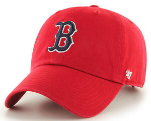 BOSTON-RED-SOX-MLB-RED-STRAPBACK-SLOUCH-039-47-BRAND-CLEAN-UP-DAD-HAT-CAP-NEW