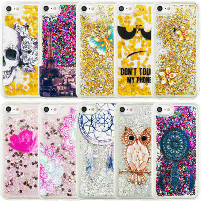 Hot Dynamic Quicksand Glitter Liquid TPU Case Cover For iPhone & Samsung Phones