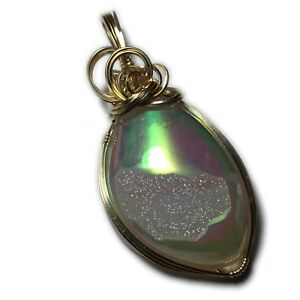 Druzy-Pendant-14K-Gold-Filled-Angel-Aura-with-Leather-Necklace-Jewelry-175g2-8