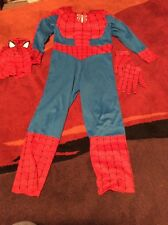 SPIDERMAN COSTUME BUILT IN MUSCLES SZ M 7-8 DRESS UP Pretend Play Super Hero