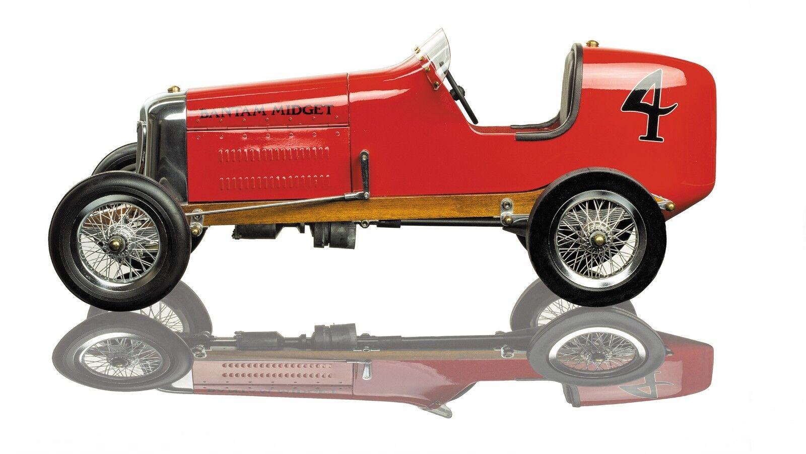 BANTAM MIDGET VINTAGE RACING CAR RED BODY, TETHER RACER, AUTHENTIC MODELS, PCO11