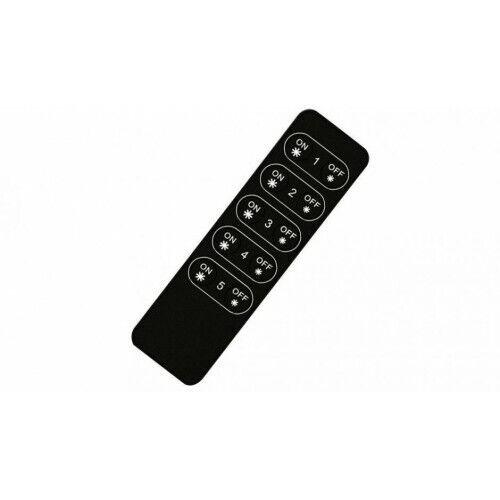 5 CH LEDsikon® RF//WiFi-Fernbedienung SR-2833K5 Black LK#522638