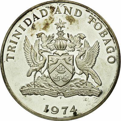Activo [#688787] Monnaie, Trinidad & Tobago, 10 Dollars, 1974, Franklin Mint, Tb Atractivo Y Duradero