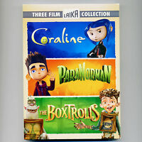 Coraline, Paranorman, Boxtrolls, 3 Pg Family Movies, Dvds, Laika Stop-motion
