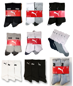 796692695 Image is loading NEW-Puma-Mens-Crew-Socks-6-Pair-Pack-
