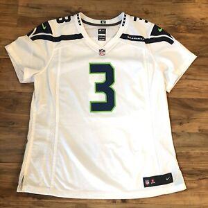 Details about Nike On Field Seattle Seahawks Russell Wilson Jersey Women's XL White