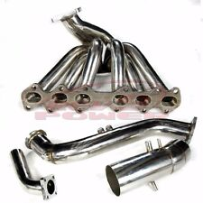 "IS300 SC300 Supra MK4 2jzge t4 2j Stainless Turbo Exhaust Manifold+3"" Downpipe"