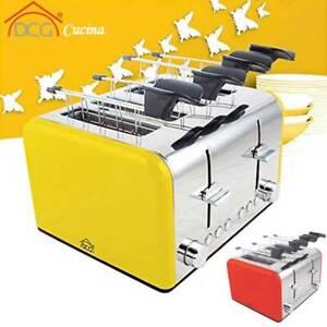 Tostapane 4 Pinze con Raccogli Briciole Tosta Pane 1400W Toast DCG Cucina