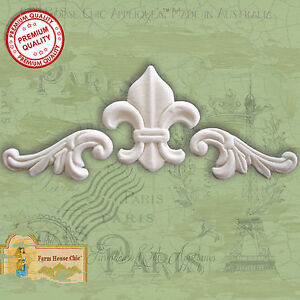 Shabby-Chic-French-Furniture-Appliques-Moldings-Fleur-de-lys-Vintage-Decor-Art