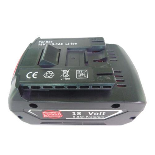 18V 5000 mAh LI Battery for Bosch GBA GDR 2607336092 2607336236 25618 17618