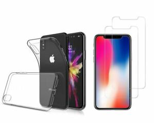 iPhone-10-X-Combo-1-carcasa-gel-2-cristales-templado-Transparente