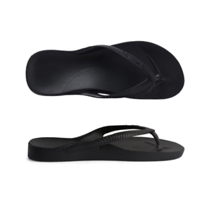 09b3cce7ab6c Image is loading Archies-High-Arch-Support-Thongs-Black-Sandal-Flip-
