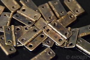 Schatulle 16x13mm Braun Antik-look So Effektiv Wie Eine Fee Praktisch 50 Mini-scharniere Für Schmuckkästchen