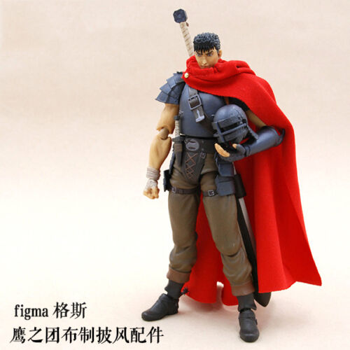 "1:12 Scale Red Cape Cloak for Figma Berserk Guts /""Band of The Hawk/"" No Figure"