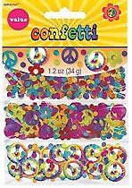 Anos 60 Década Confete valor Pack Suprimentos De Festa De Aniversário
