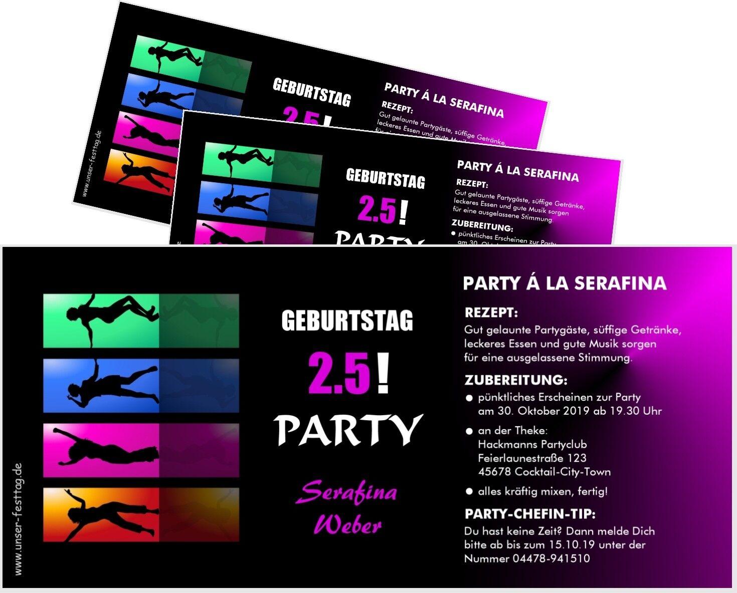 Coole Geburtstagseinladung Clubparty für Frauen - Wunschtext, jedes Alter ändern