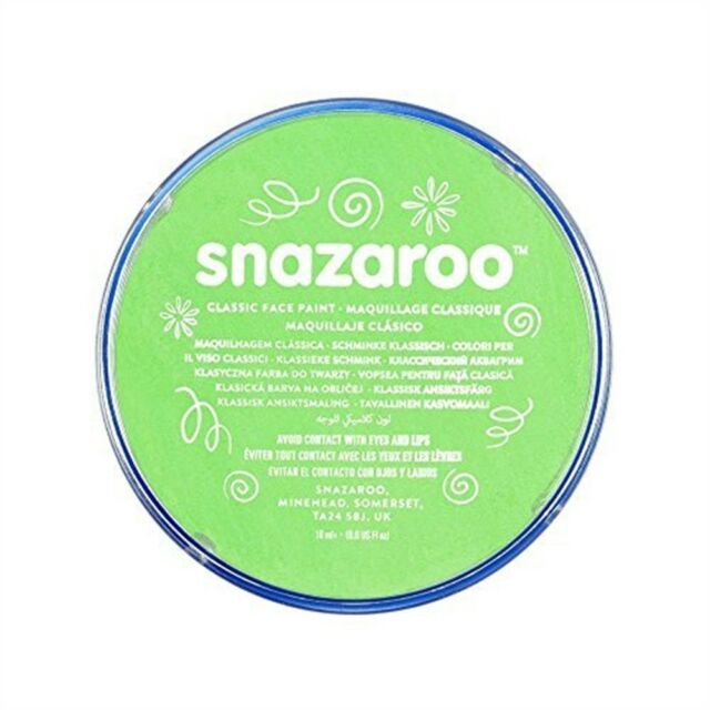Snazaroo 18ml Face Paint - Lime Green - Fancy Dress Colours Body Paints Classic