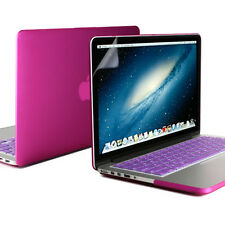 Deep Purple Rubber Case Screen Protector Keyboard Cover Macbook Pro 13 Retina
