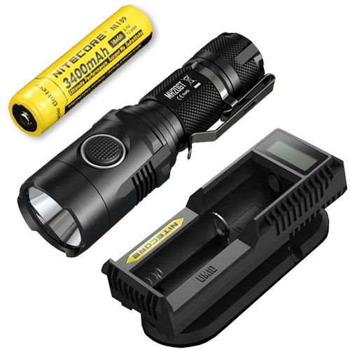 Nitecore MH20GT Rechargeable Flashlight w  NL189 Battery & UM10 Charger