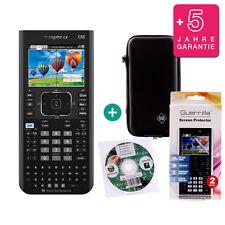 TI Nspire CX CAS Grafikrechner + Schutztasche /-Folie Lern-CD Garantie
