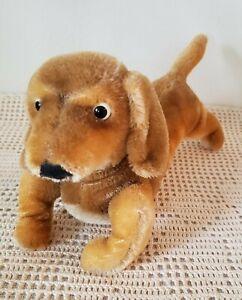 Vintage-STEIFF-HEXIE-DACHSHUND-DOG-BROWN-MOHAIR-Ca1968-ORIGINAL-Germany-Made