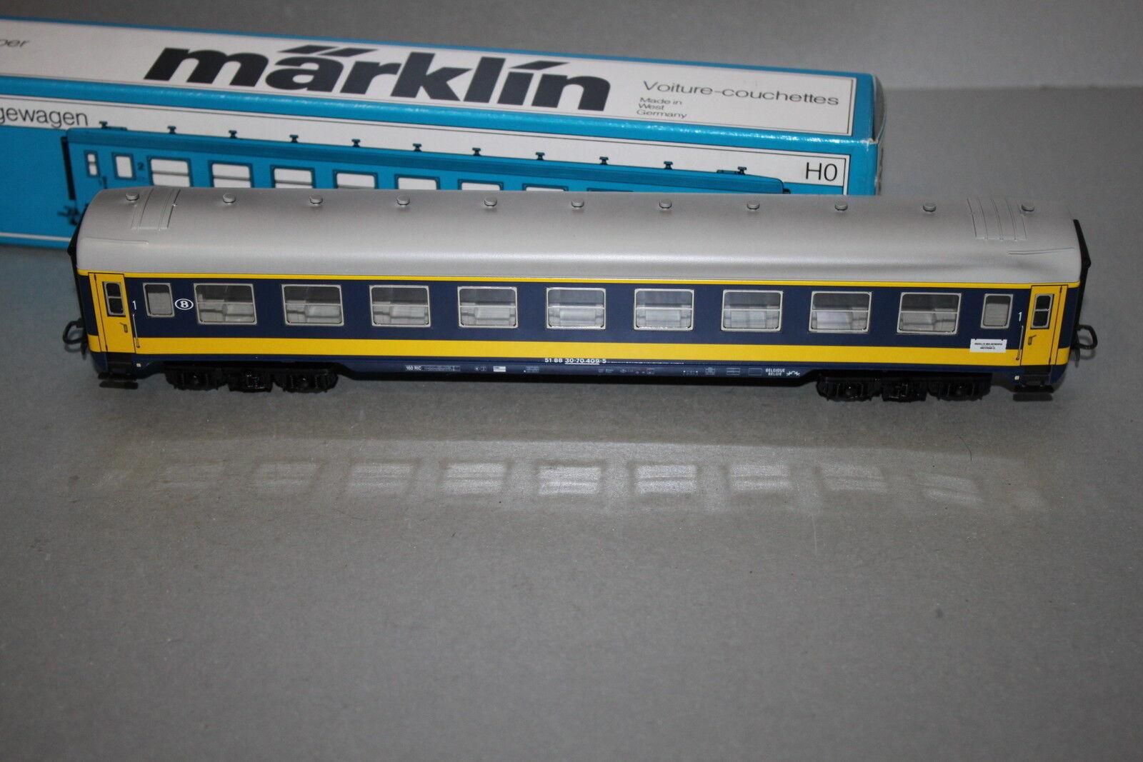 Märklin 4120 4-camion vagoni 1.kl. LETTINO Carrello Railtour SNCB traccia h0 OVP