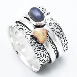 Labradorite-925-Sterling-Silver-Spinner-Ring-Meditation-statement-Ring-sr724