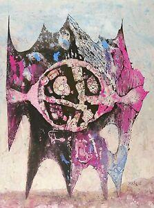 Gouache 1988 Temperazeichnung Im Fernen Raum Ingenious Heinz Drache