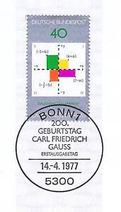 éNergique Rfa 1977: Carl Friedrich Gauss Nº 928 Avec Bonner Ersttags Cachet Spécial! 1803-stempel! 1803fr-fr Afficher Le Titre D'origine