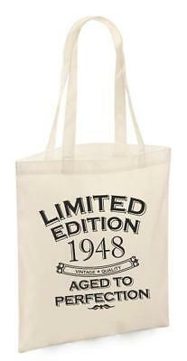 71st Birthday Gifts Present Year 1948 Shopping Shopper Keepsake Womens Tote Bag