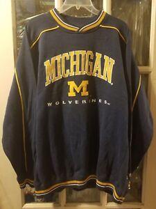 size 40 6c842 e375c Details about VINTAGE Michigan Wolverines Lee Sweatshirt Adult L Brady  Woodson Howard U of M