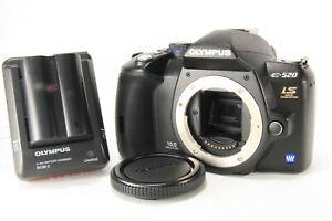 Olympus-EVOLT-E-520-10-0MP-Digital-SLR-Camera-Black-Excellent-w-Cap-and-so