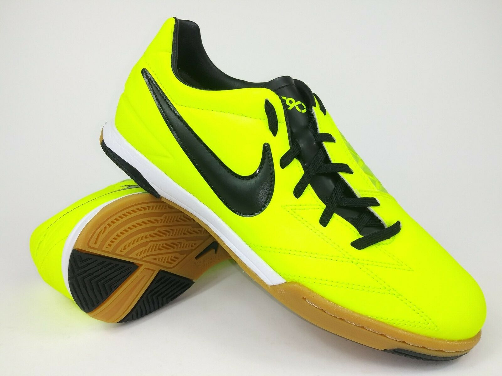Nike Hombre Raro T90 disparar IV IC 472558-703 verde fútbol indoor zapatos talla 8.5